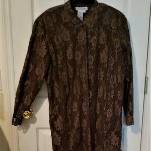 chocolate brown lace blazer
